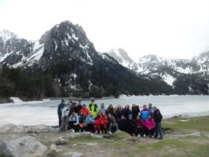 Foto de grupo en el lago San Mauricio