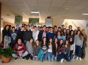 Nuestro alumnado de 4ºESO de visita en el IES Las Salinas